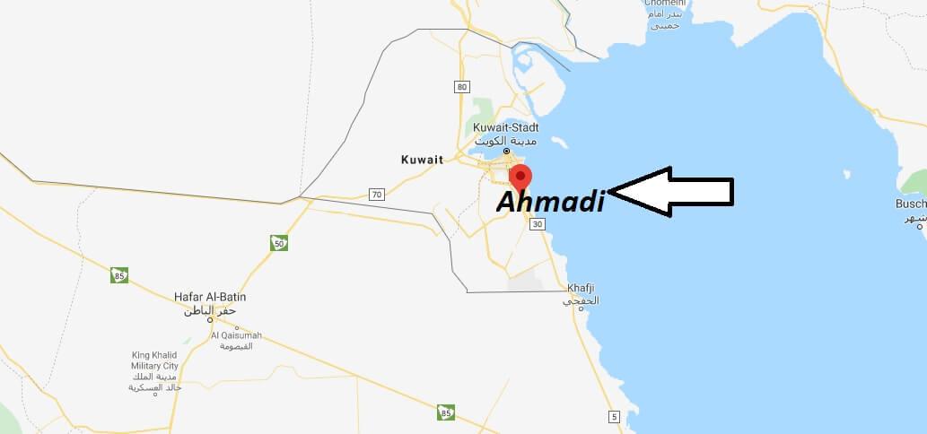 Wo liegt Ahmadi? Wo ist Ahmadi? in welchem land liegt Ahmadi