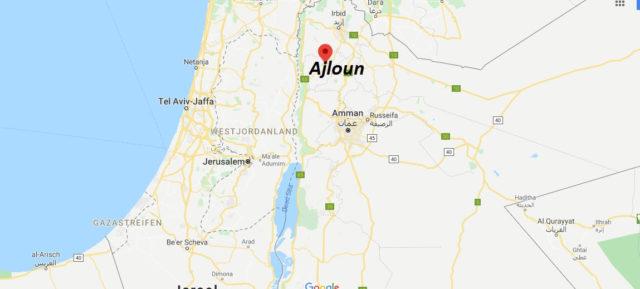 Wo liegt Ajloun? Wo ist Ajloun? in welchem land liegt Ajloun