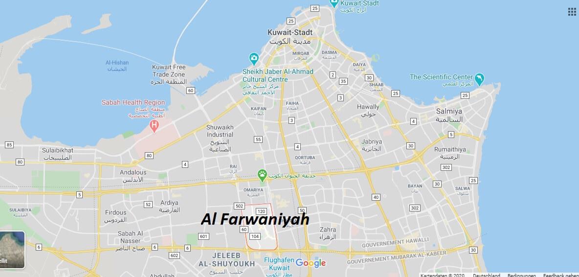 Wo liegt Al Farwaniyah? Wo ist Al Farwaniyah? in welchem land liegt Al Farwaniyah