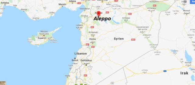 Wo liegt Aleppo? Wo ist Aleppo? in welchem land liegt Aleppo