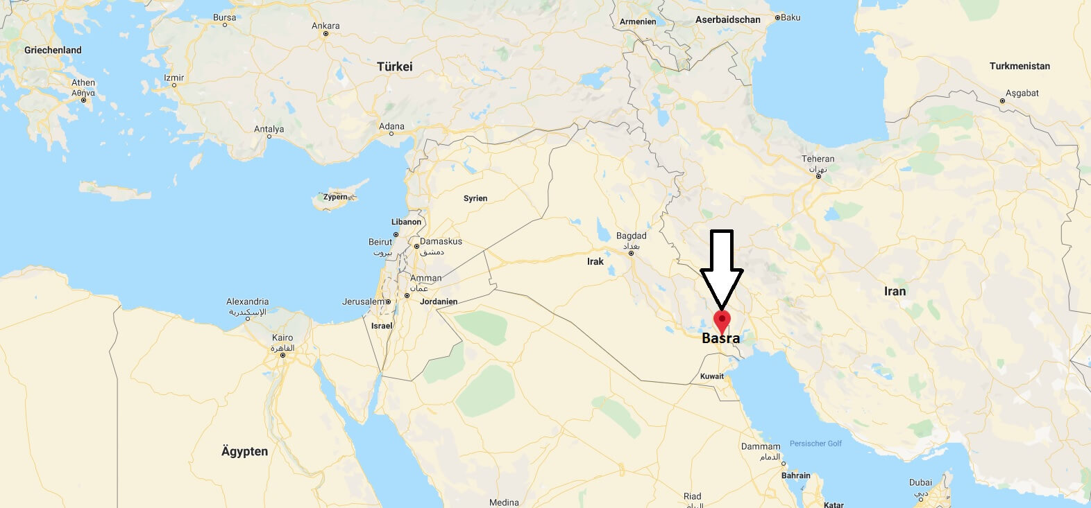 Wo liegt Basra? Wo ist Basra? in welchem land liegt Basra