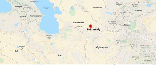 Wo liegt Bayramaly? Wo ist Bayramaly? in welchem land liegt Bayramaly