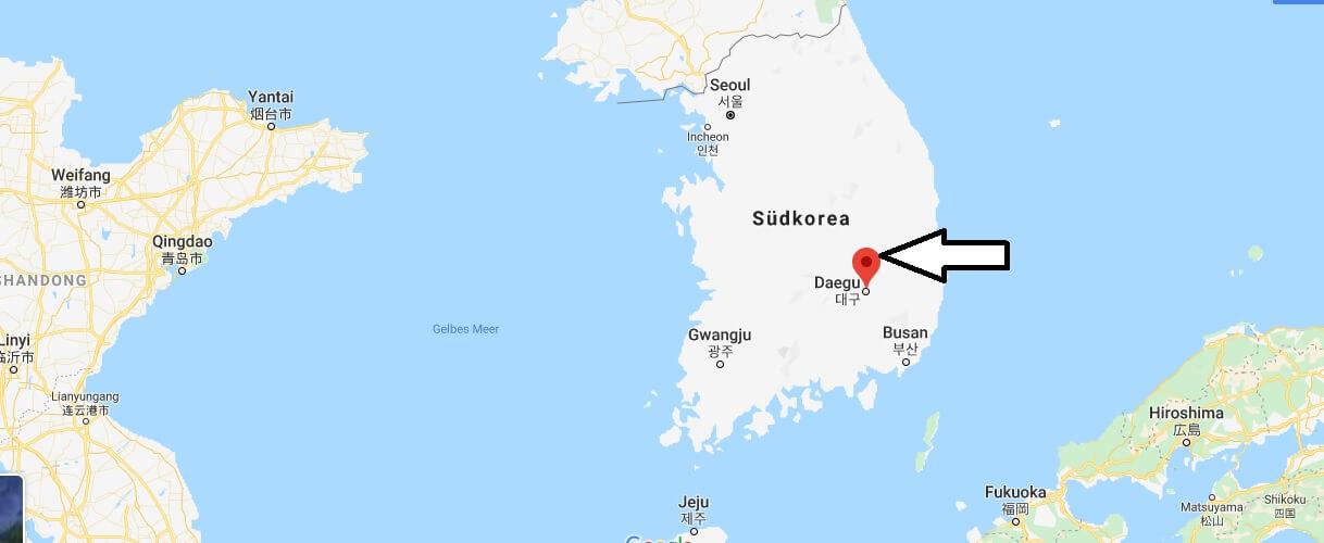 Wo liegt Daegu? Wo ist Daegu? in welchem land liegt Daegu