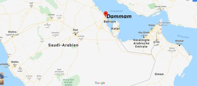 Wo liegt Dammam? Wo ist Dammam? in welchem land liegt Dammam