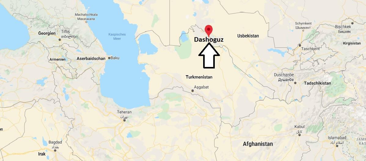 Wo liegt Dashoguz? Wo ist Dashoguz? in welchem land liegt Dashoguz