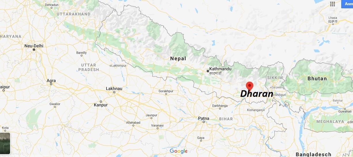 Wo liegt Dharan? Wo ist Dharan? in welchem land liegt Dharan