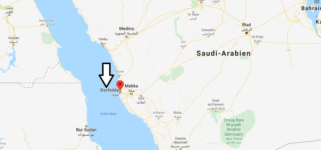 Wo liegt Dschidda (Jeddah)? Wo ist Dschidda? in welchem land liegt Dschidda