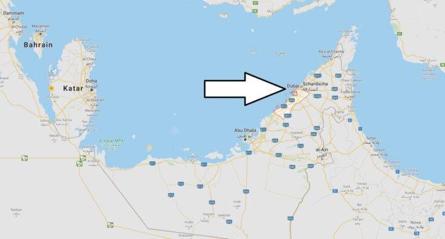 Wo liegt Dubai - Wo ist Dubai - in welchem land liegt Dubai