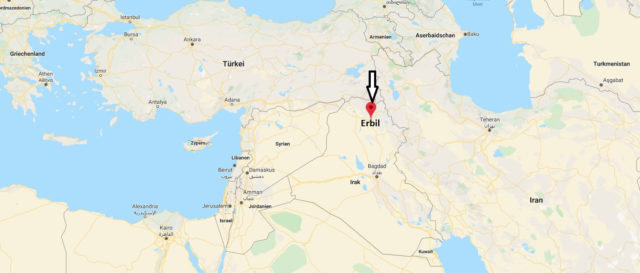 Wo liegt Erbil? Wo ist Erbil? in welchem land liegt Erbil