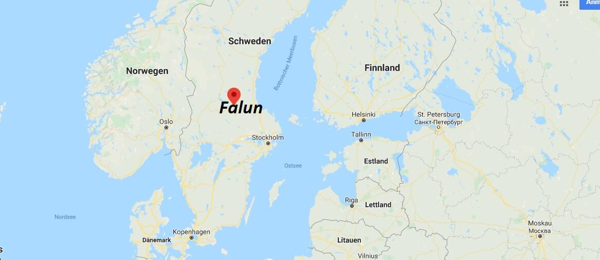 Wo liegt Falun? Wo ist Falun? in welchem land liegt Falun