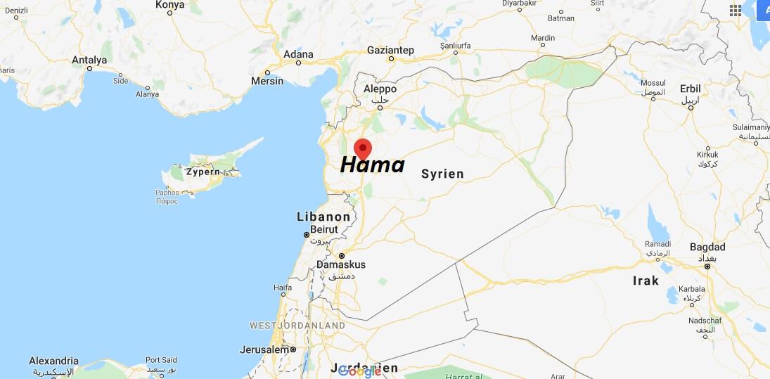 Wo liegt Hama? Wo ist Hama? in welchem land liegt Hama