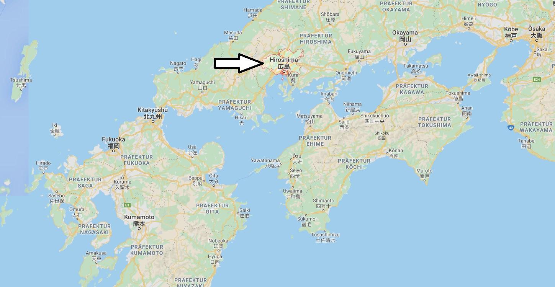 Wo liegt Hiroshima - Wo ist Hiroshima - in welchem land liegt Hiroshima
