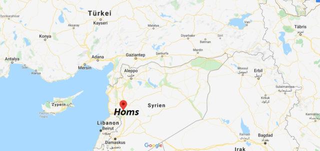 Wo liegt Homs? Wo ist Homs? in welchem land liegt Homs