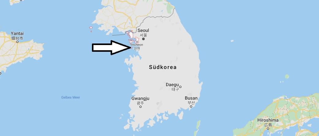 Wo liegt Incheon? Wo ist Incheon? in welchem land liegt Incheon