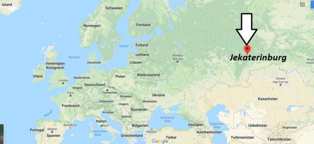 Wo liegt Jekaterinburg? Wo ist Jekaterinburg? in welchem land liegt Jekaterinburg