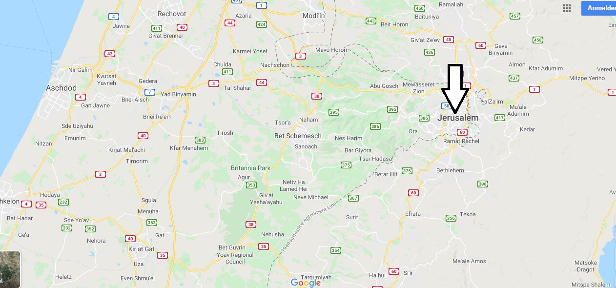 Wo liegt Jerusalem? Wo ist Jerusalem? in welchem land liegt Jerusalem