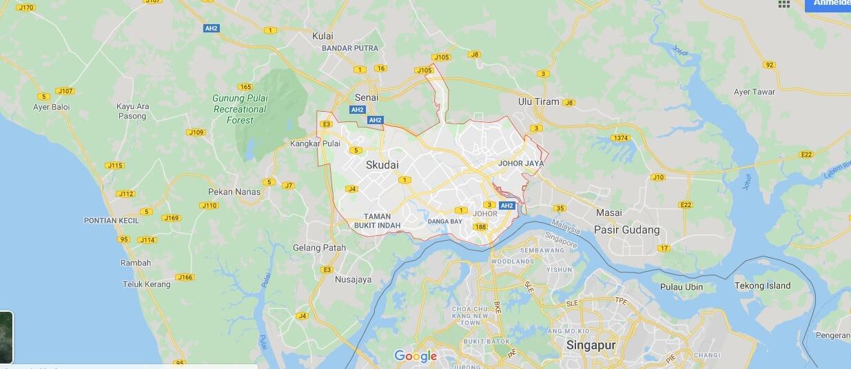 Wo liegt Johor Bahru? Wo ist Johor Bahru? in welchem land liegt Johor Bahru