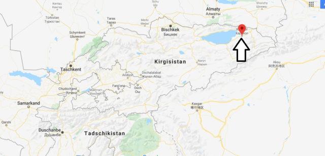 Wo liegt Karakol? Wo ist Karakol? in welchem land liegt Karakol
