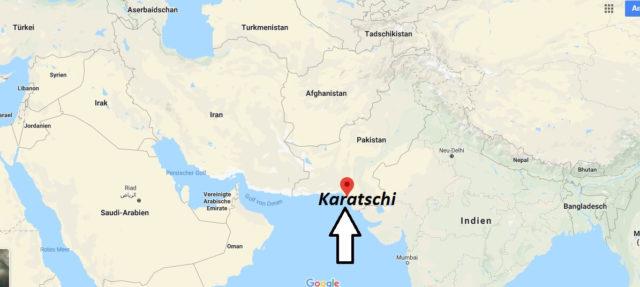 Wo liegt Karatschi? Wo ist Karatschi? in welchem land liegt Karatschi
