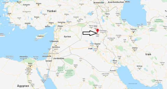 Wo liegt Kirkuk? Wo ist Kirkuk? in welchem land liegt Kirkuk