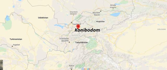 Wo liegt Konibodom? Wo ist Konibodom? in welchem land liegt Konibodom