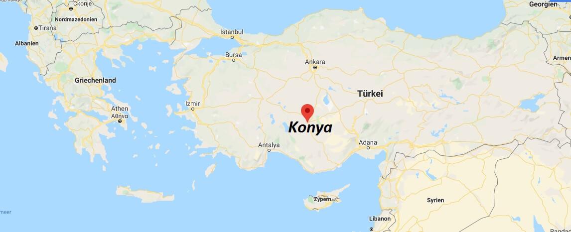 Wo liegt Konya? Wo ist Konya? in welchem land liegt Konya