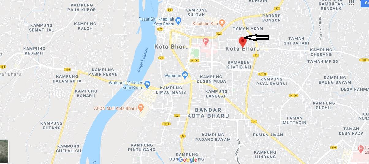 Wo liegt Kota Bharu? Wo ist Kota Bharu? in welchem land liegt Kota Bharu