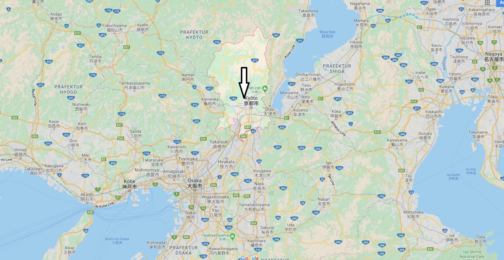 Wo liegt Kyoto? Wo ist Kyoto? in welchem land liegt Kyoto