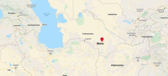 Wo liegt Mary (Turkmenistan)? Wo ist Mary? in welchem land liegt Mary
