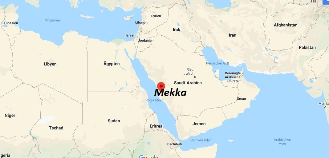 Wo liegt Mekka? Wo ist Mekka? in welchem land liegt Mekka