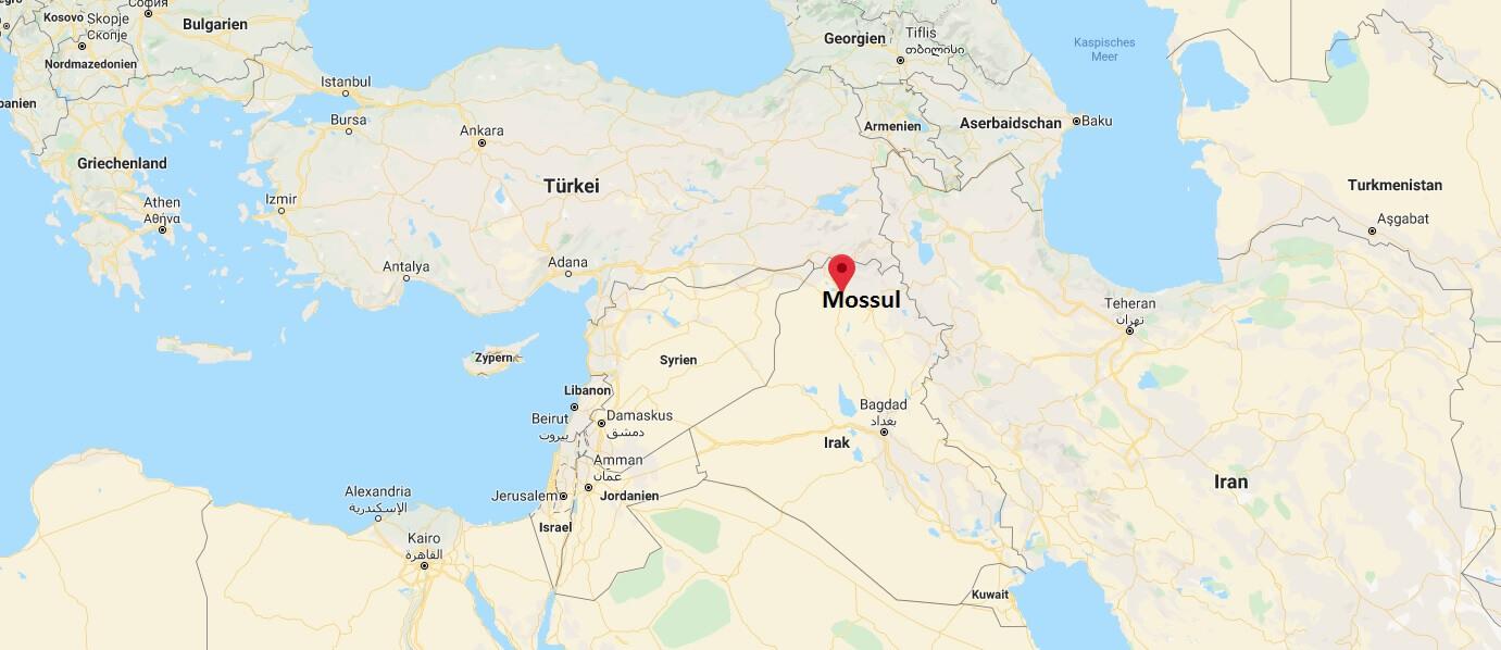 Wo liegt Mossul? Wo ist Mossul? in welchem land liegt Mossul