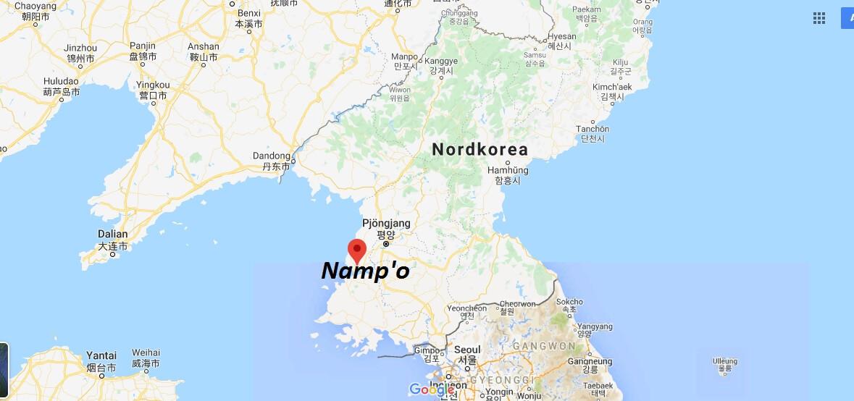Wo liegt Namp'o? Wo ist Namp'o? in welchem land liegt Namp'o