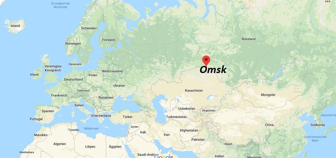 Wo liegt Omsk? Wo ist Omsk? in welchem land liegt Omsk