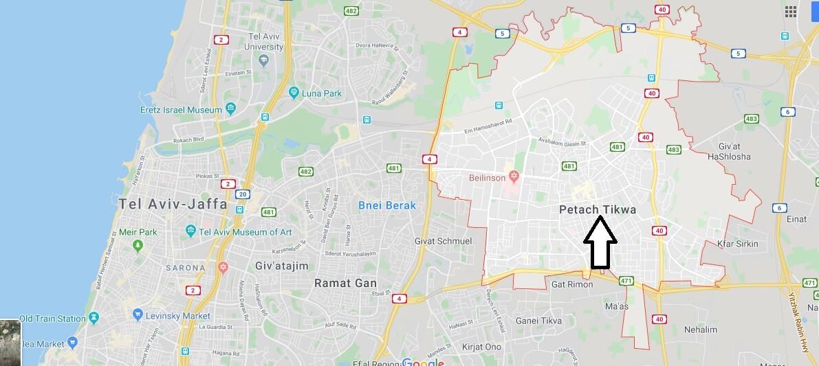 Wo liegt Petah Tikva? Wo ist Petah Tikva? in welchem land liegt Petah Tikva