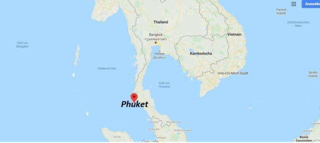 Wo liegt Phuket? Wo ist Phuket? in welchem land liegt Phuket