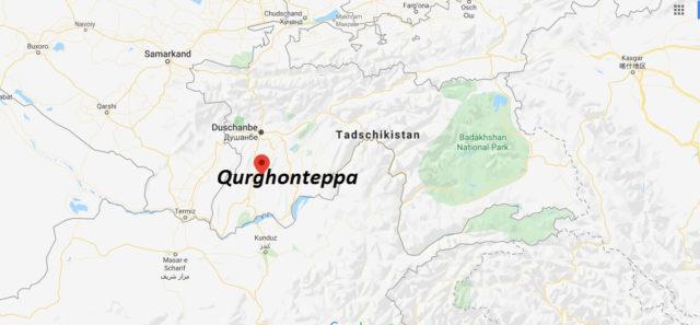 Wo liegt Qurghonteppa? Wo ist Qurghonteppa? in welchem land liegt Qurghonteppa