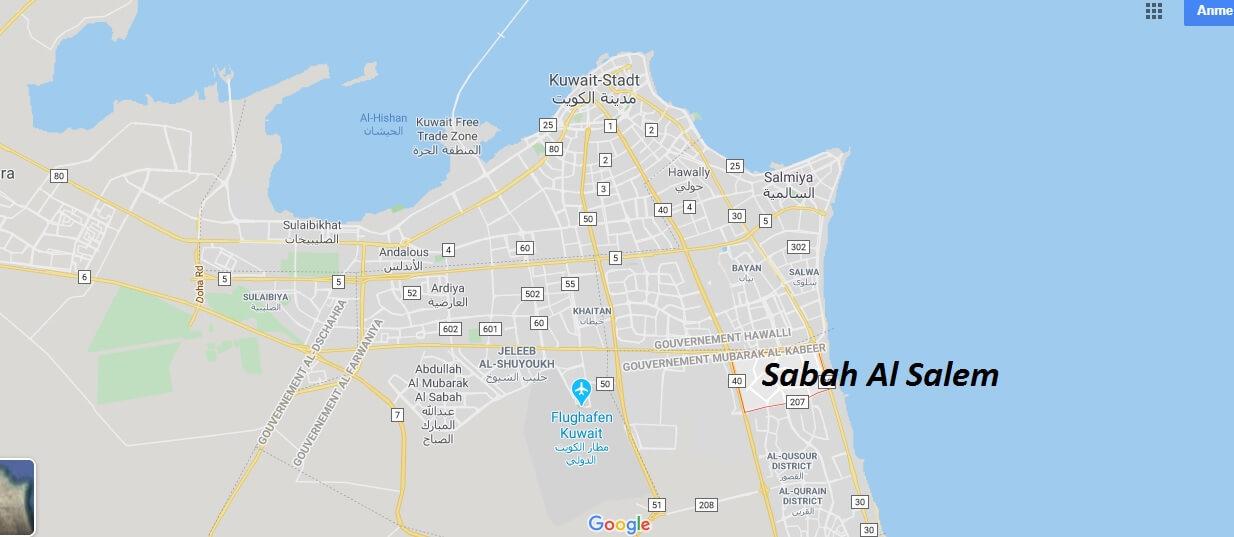 Wo liegt Sabah Al Salem? Wo ist Sabah Al Salem? in welchem land liegt Sabah Al Salem