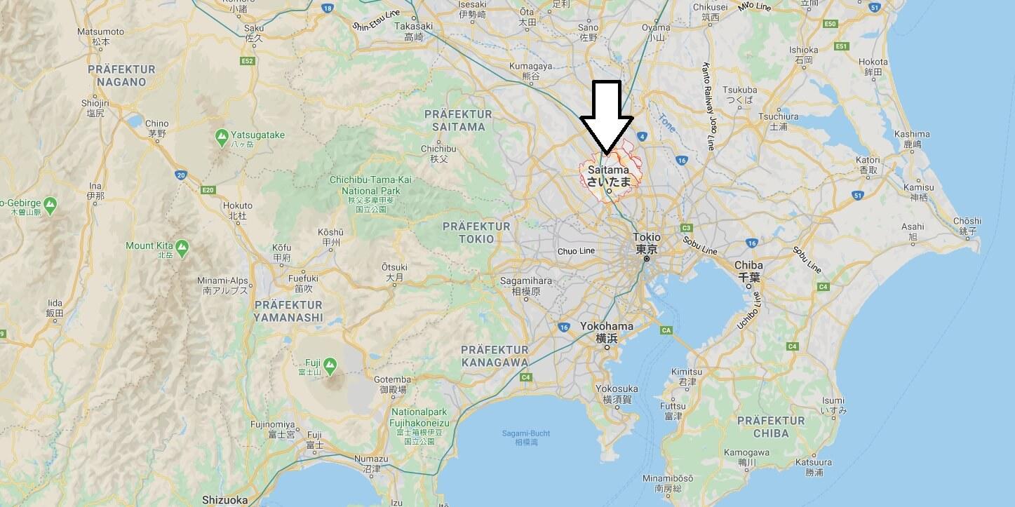 Wo liegt Saitama? Wo ist Saitama? in welchem land liegt Saitama