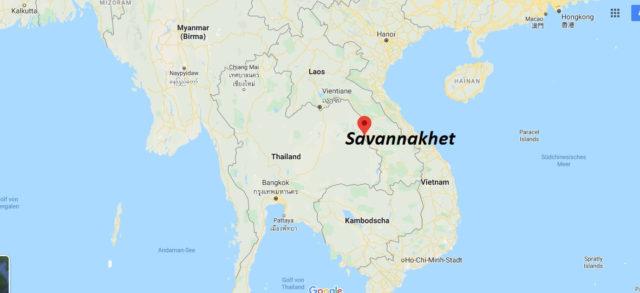 Wo liegt Savannakhet? Wo ist Savannakhet? in welchem land liegt Savannakhet