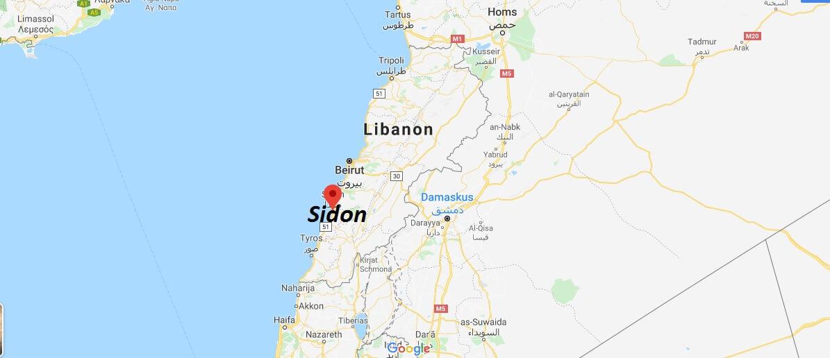 Wo liegt Sidon? Wo ist Sidon? in welchem land liegt Sidon