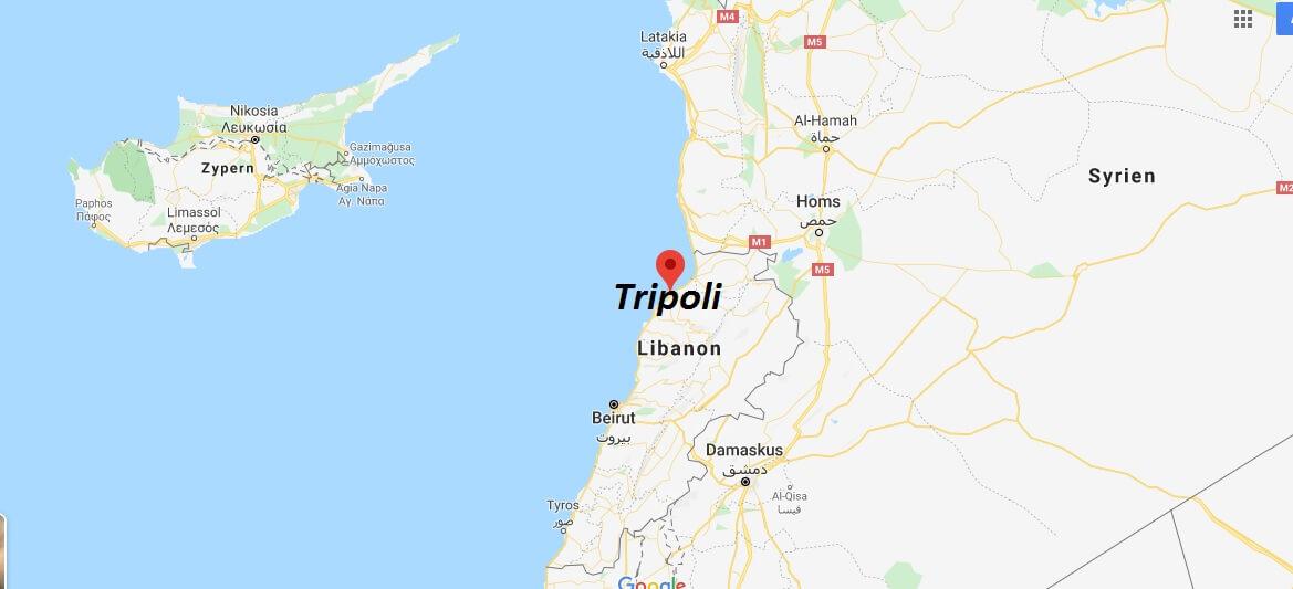 Wo liegt Tripoli? Wo ist Tripoli? in welchem land liegt Tripoli