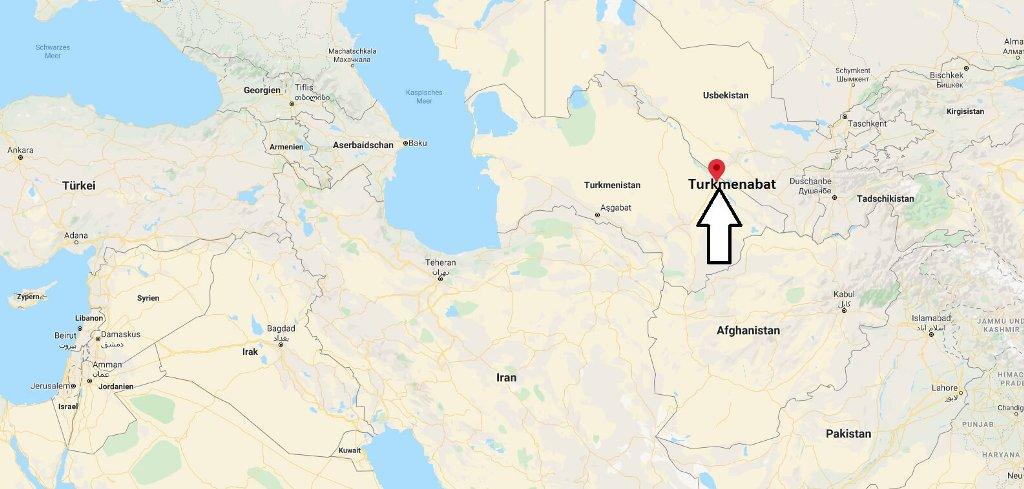 Wo liegt Turkmenabat? Wo ist Turkmenabat? in welchem land liegt Turkmenabat