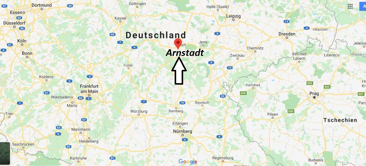 Wo liegt Arnstadt? Wo ist Arnstadt? In welchem Bundesland liegt Arnstadt