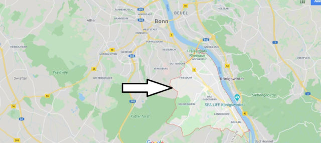 Wo liegt Bad Godesberg? Wo ist Bad Godesberg? In welchem Bundesland ist Bad Godesberg