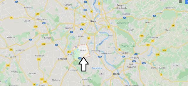 Wo liegt Brühl? Wo ist Brühl? In welchem Bundesland ist Brühl