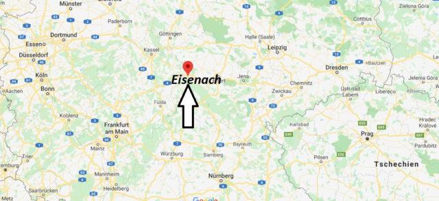 Wo liegt Eisenach? Wo ist Eisenach? In welchem Bundesland liegt Eisenach