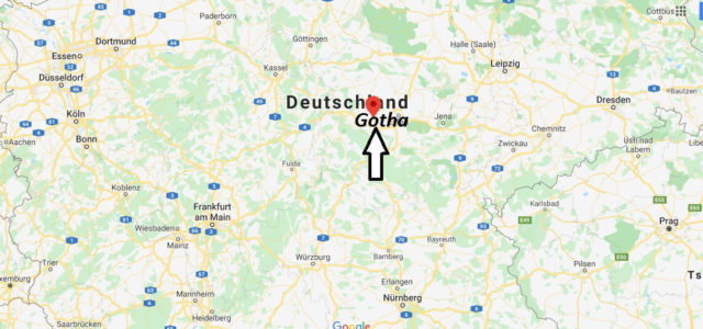 Wo liegt Gotha? Wo ist Gotha? In welchem Bundesland liegt Gotha