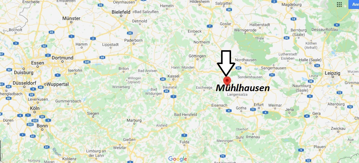 Wo liegt Mühlhausen? Wo ist Mühlhausen? In welchem Bundesland liegt Mühlhausen