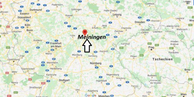 Wo liegt Meiningen? Wo ist Meiningen? In welchem Bundesland liegt Meiningen