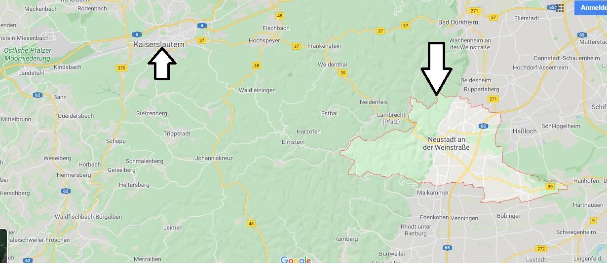 Wo liegt Neustadt an der Weinstrasse? Wo ist Neustadt an der Weinstrasse
